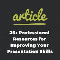 25 professional resources improving your presentation skills