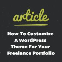 How to customize wordpress theme for your freelance portfolio