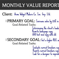 Monthly value report