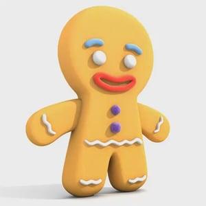 Gingerbread man retina
