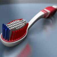 Maya toothbrush thumb