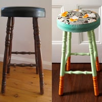 Boring old stool a beautiful makeover preview