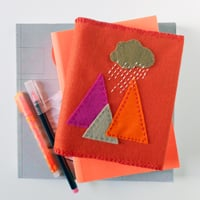 The red thread felt book cover square