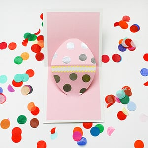 Easter pop up card retina