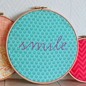 400px smile embroidery hoop