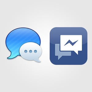 Using facebook chat with messages preview 2x