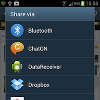 Android sdk share intent sue preview image