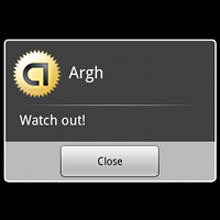 Android alert preview