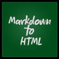Markdown to html2