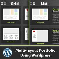 Multi layout portfolio usin