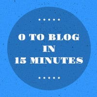 0 to blog in 15 minutes