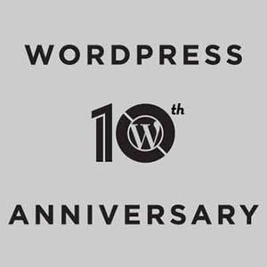 Wordpress 10 anniversary