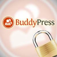 Buddypress lockdown