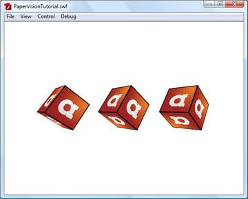 Three cubes in a row