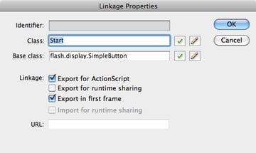 Linkage properties for the buttons