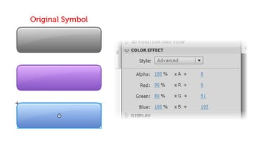 Using the Advanced color effect