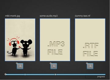 interface of the Flash swf file