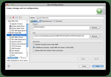 Run Configuration Settings