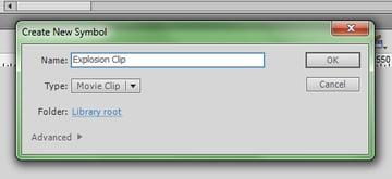 Create New Symbol -- Movie Clip.