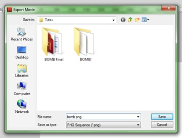 Screenshot showing export as PNG