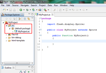 MyProject Folder structure.