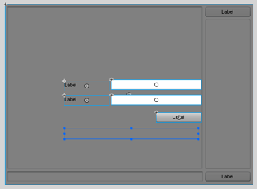 login screen elements