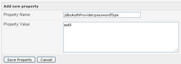 jdbcAuthProvider passwordType