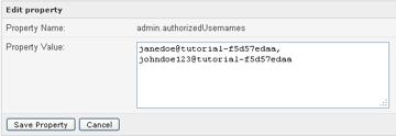 authorized usernames