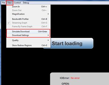 Simulate Download