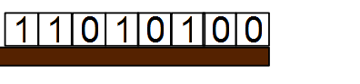 Binary representation of D4 before the bitwise shift is applied