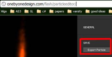 Save particle details.