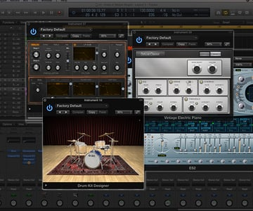 Your DAW will more than likely come with a collection of sound generating plug-ins such as drum machines, synths and more