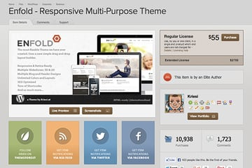 Look at the most popular themes being sold in this niche on ThemeForest and consider what copy is appealing to the target audience Enfold is a rockstar theme with high sales performance to analyze