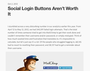 Full story Social Login Buttons Arent Worth It