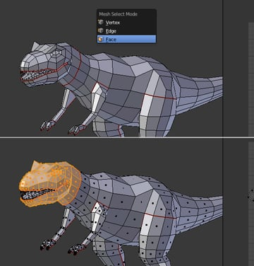 Modeling UVmapping And Texturing A Low Poly T-Rex In Blender