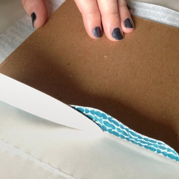 rub the cloth with a bone fold
