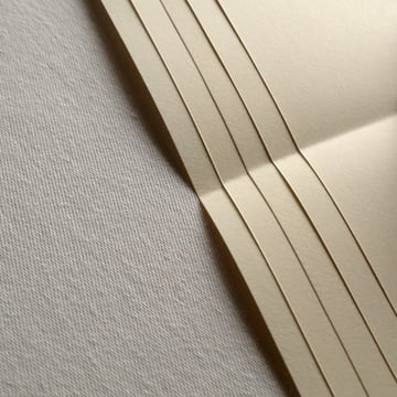 gather 5 sheets of folded paper together to make a signature