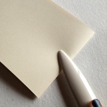 flatten the fold on the signature with a bone fold