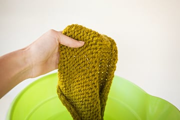 Block Knitting Remove From Water