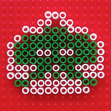 Pattern for Perler Beads Space Invaders Christmas Ornaments