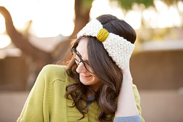 Cosy Knitted Hair Band Finished