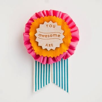 You Are Awesome Prize Ribbon