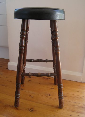 boring old stool a beautiful makeover before