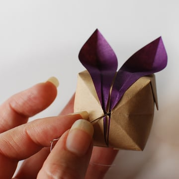 origami bunny mobile step 1
