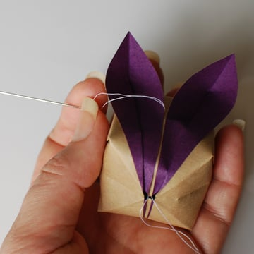 origami bunny mobile step 1a