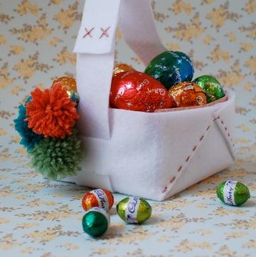 Easter Basket pom poms