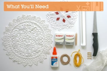 Make a polymer clay posy necklace via Crafttuts+