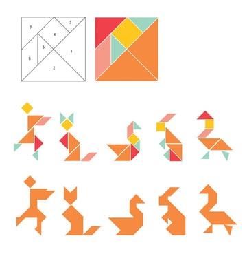 pattern tangram magnets tutorial