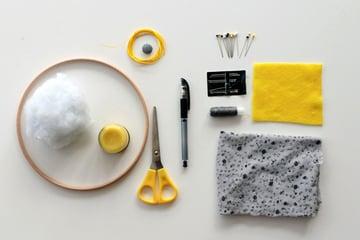 Supplies for Pincushion Tutorial