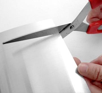 cut out a strip of aluminum